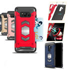89A4 HybridArmorMagneticHardCreditCard Holder Case Cover For Samsung S9 iPhone X