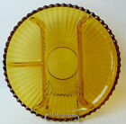 Relish Dish Amber Glass Grill Serving Platter