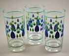 Set of 3 Vintage Swiss Alpine Chalet Stetson Mid-Century Glass Tumblers