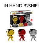Funko POP Heroes: Chrome Flash 3-pack SDCC 2018 FUNKO SHOP Exclusive -IN HAND!!-