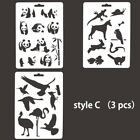 4pcs Animals Stencils Template Diy Painting Scrapbooking Embossing Cards Crafts