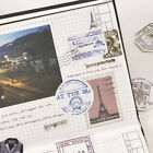 Travel Stamp Postmark Adhesive Decorative Notebook DIY Diary Scrapbook Sticker