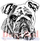 Deep Red Stamps Bulldog Portrait Rubber Cling Stamp