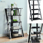 Media Tower Entertainment Console Unit Audio Rack Shelves Stereo Stand Storage