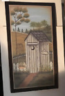 HERS Rustic COUNTRY BATH Wood Bathroom Outhouse powder room wood decor Sign
