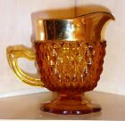 Vintage Indiana DIAMOND POINT Brown Amber/Gold Glass 4