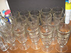 Lot of 16 Ice Cream Schooners 7 1/2 Inch Tall Vintage 1940's Very Good Shape