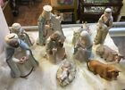 VINTAGE LEFTON CHINA MANGER NATIVITY CHRISTMAS SET CHRISTOPHER COLLECTION FIGURE