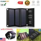 Foldable 2USB Solar Panel 21W Cell Phone Power Bank External Battery Charger US