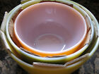 Vintage Anchor Hocking Fire King Mixing Bowls Set of 3 w/ Orig Pkg