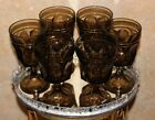 VINTAGE FOOTED Arched Wine Glasses Set of 6 Brown