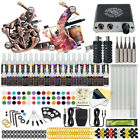 Beginner Tattoo Kit 4 Machine Guns 40 color Ink Needles Power Supply Grip Tips N
