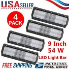 Lot 10 Led Work Light 9 Inch 54w Bar Offroad Driving Spotlight Suv Truck Car Oy