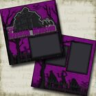 The Haunted Mansion DISNEY 2 Premade Scrapbook Pages EZ Layout 3364