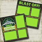 Space Mountain DISNEY 2 Premade Scrapbook Pages EZ Layout 3366
