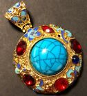 é Chinese Pendant Stone Gold Jewelry Asian Emperor