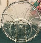 Vtg 1950 Clear Indiana Glass Tree Of Life Deviled Egg / Relish Tray Very Pretty