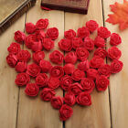 50pcs Mini Petite Silk Artificial Rose Bud Flower DIY Craft Wedding Home Decor
