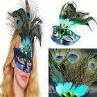 BEST Masquerade Venetian Mardi Gras Carnival Mask for Women with Peacock Feather