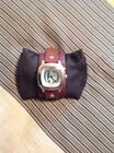 FOSSIL BIG TIC MENS DATE WATCH BROWN LEATHER BAND