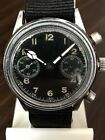RARE MILITARY TUTIMA UROFA 59 C1945 CHRONOGRAPH FLYBACK MENS WATCH AS IS