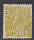 BW 117(4)l 4d George V *Colour Flaw Roos Face ++**MLH