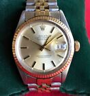 Mens Rolex datejust 2 tone 14K Gold and stainless  1601