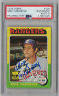 MIKE HARGROVE SIGNED 1975 TOPPS RC W R.O.Y. INSCRIPTION PSA AUTO GRADE 9