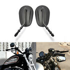 Black Motorcycle Side Mirrors For 1990 2017 Harley Davidson Sportster 883 1200