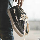 Mens Sneakers Lace Up Round Toe Comfort Low Top Canvas Retro Skateboard Shoes
