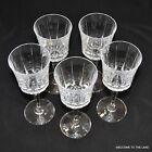 WINE/WATER STEM GLASSES, SET OF 5, 7 INCHES TALL, 8 OUNCE CAPACITY