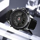 SMAEL Men Fashion Genuine Leather Band Wrist Watch Waterproof LED Quartz