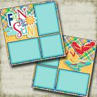 FUN IN THE SUN 2 Premade Scrapbook Pages EZ Layout 3370