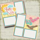 FUN IN THE SUN Girl 2 Premade Scrapbook Pages EZ Layout 3372