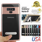 Fits Samsung Note 9 Clear Case Slim Fit Bumper Shockproof Protective Kickstand