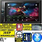 1997-2002 JEEP WRANGLER PIONEER BLUETOOTH USB AUX TOUCHSCREEN Radio Stereo PKG