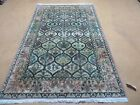 4' X 6' Vintage Hand Made Persian Chinese Tabriz Wool Rug Fine Carpet Birds Nice