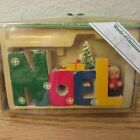 Vintage Words of Christmas Wooden Noel Christmas Decoration