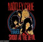 MOTLEY CRUE cd lgo SHOUT AT THE DEVIL VINTAGE Official SHIRT SMALL New OOP