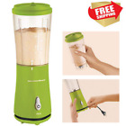 Smoothie Blender Travelling Shakes Drinks Gym Beac Cup Lid Single Serve Portable