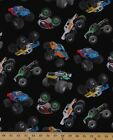 Monster Trucks Crushers Dirt Sports In Motion 100 cotton fabric by the yard