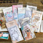 45 Pcs Set Vintage Memories Writable Paper Sticker DIY Scrapbooking Stickers HS