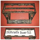 XL Antique Drawer Pull ~ Name Plate ID Label Holder Industrial Mercantile