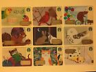 Limited Starbucks Git Card Set of 9 - Cute Animals