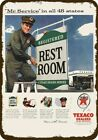 1956 TEXACO GAS STATION ATTENDANT REST ROOMS Vintage Look REPLICA METAL SIGN