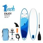 10 Inflatable Stand Up Paddle Board SUP Fin Adjustable Paddle Backpack w Pump