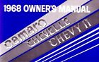 OEM Maintenance Owners Manual Bound Chevy Camaro Chevelle Chevy II 1968