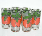 6 West Virginia Glass Vtg Stained Glass Cherries Tumblers Highball Glasses 12oz