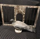 REDUCED!! Folk Art Pigeon On His Coop One Of A Kind Advertising-Display to hang