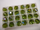 8 Swarovski Vintage Crystal beads in 14mm Olivine AB MINT 5000
